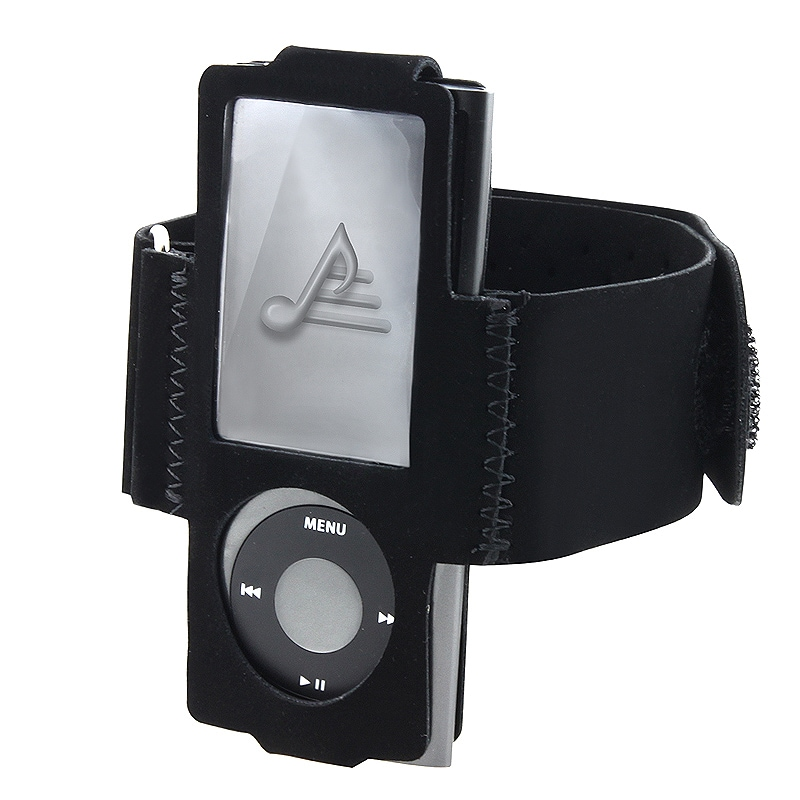 BasAcc Black Suede Armband for Apple iPod Nano 5th Generation