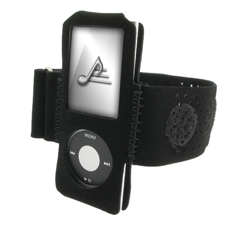 BasAcc Black Suede Armband for Apple iPod Nano 4th Generation