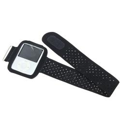 BasAcc Black Suede Armband for Apple iPod Nano 3rd Generation - Thumbnail 2
