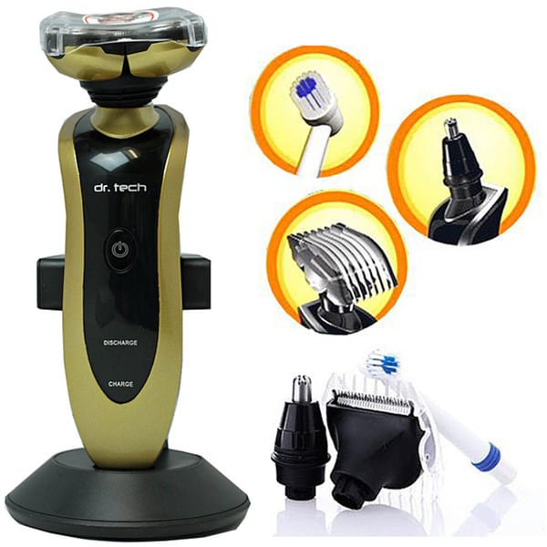 Dr. Tech 4-in-1 Gold Electric Shaver