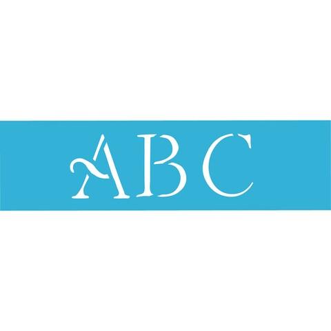 Americana Stencils 6x18-inch Simple Script Alphabet Stencil