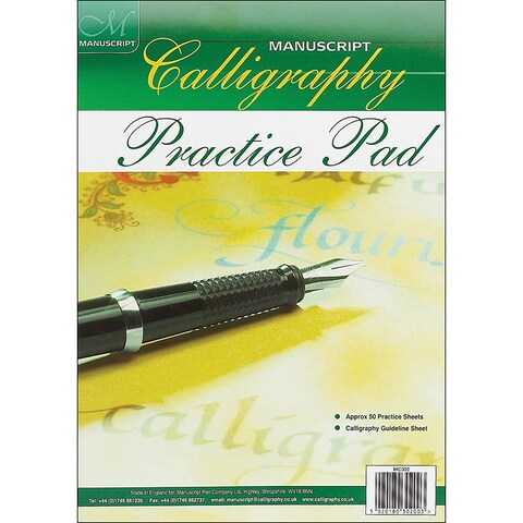 Manuscript Calligraphy Practice 50-sheet Pad