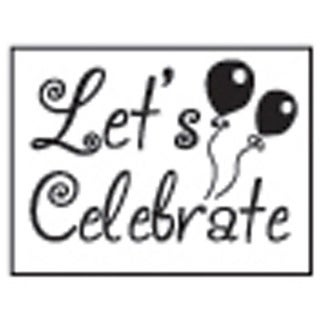 Decorative 'Let's Celebrate' with Purple Wax Resin Seal