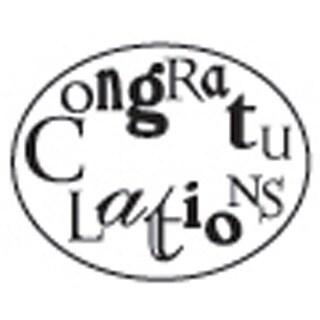 Decorative 'Congratulations' with Purple Wax Resin Seal