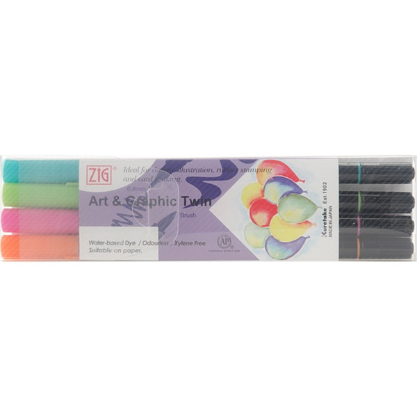 Zig Art & Graphic Summer Twin Marker Set (Pack of 4)