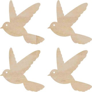 Kaisercraft Flying Birds Wood Flourishes (Pack of 4)