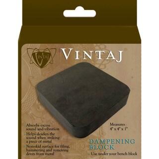 Vintaj Black Nonskid Rubber Dampening Block for Metal-crafting