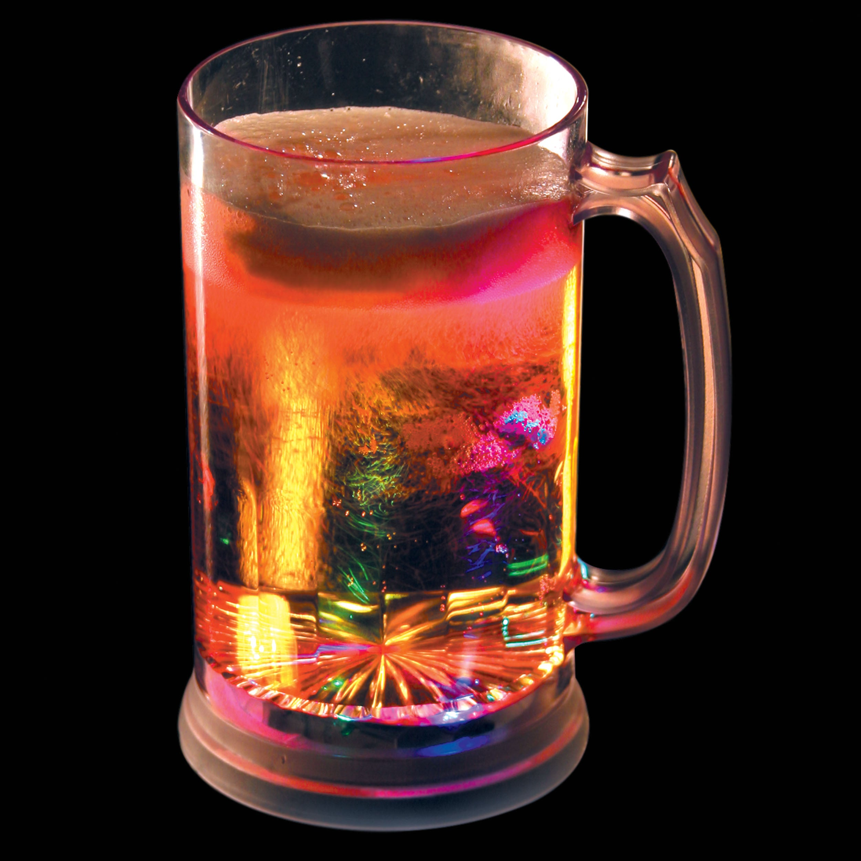 Light Up Tall Flashing Beer Mug (Set of 12)