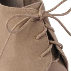 Hailey Jeans Co Women's 'Shower' Lace-up Peep Toe Wedge Bootie