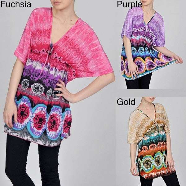 Second Skin Women's Tie-dye Printed Tunic