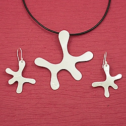Handcrafted Alpaca Silver 'Asymmetry' Necklace and Earrings Set (Mexico)