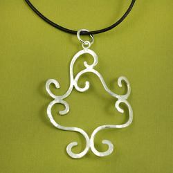 Handcrafted Alpaca Silver 'Textured Swirls' Necklace and Earrings Set (Mexico) - Thumbnail 1