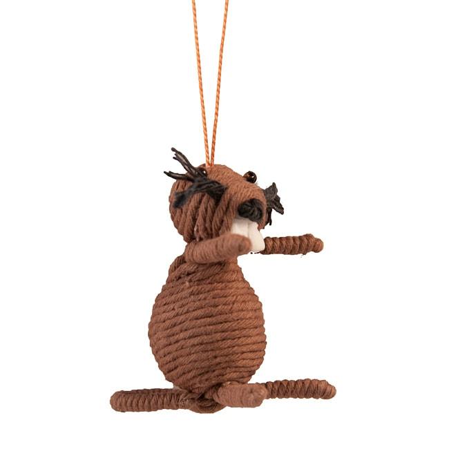 Yarn Beaver Ornament (Colombia)