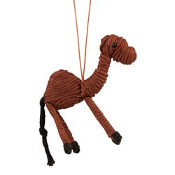 Handmade Yarn Camel Ornament (Colombia)