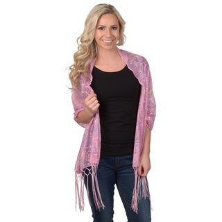 Hailey Jeans Co Women's Fringe-Detail Sheer Sequined Scarf