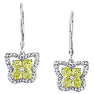Miadora 14k White Gold 1ct TDW Yellow and White Diamond Earrings|https://ak1.ostkcdn.com/images/products/6599744/P14170884.jpg?impolicy=medium