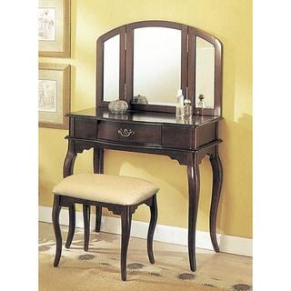 Espresso Tri-mirror Vanity