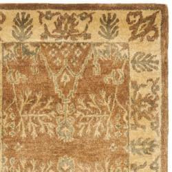 Safavieh Handmade Tree Light Brown/ Beige Hand-spun Wool Rug (2'3 x 12')
