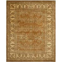 Safavieh Handmade Tree Light Brown/ Beige Hand-spun Wool Rug (5' x 8')