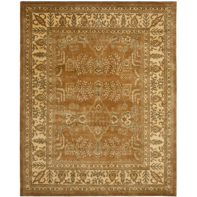 Safavieh Handmade Tree Light Brown/ Beige Hand-spun Wool Rug (9' x 12')
