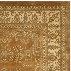 Safavieh Handmade Tree Light Brown/ Beige Hand-spun Wool Rug (9' x 12') - Thumbnail 1
