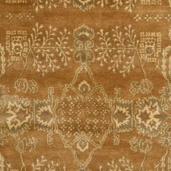 Safavieh Handmade Tree Light Brown/ Beige Hand-spun Wool Rug (9' x 12') - Thumbnail 2
