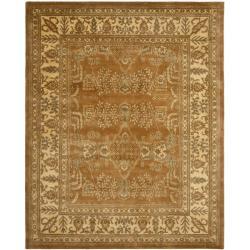 Safavieh Handmade Tree Light Brown/ Beige Hand-spun Wool Rug - 9' x 12' - Thumbnail 0