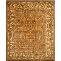 Safavieh Handmade Tree Light Brown/ Beige Hand-spun Wool Rug - 9' x 12'