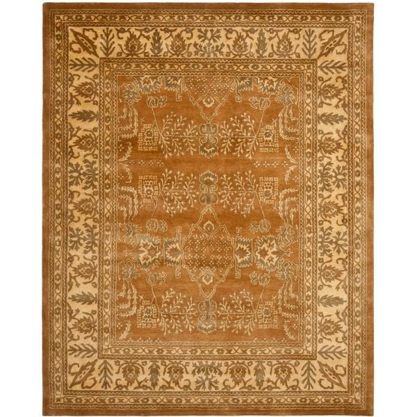 Safavieh Handmade Tree Light Brown/ Beige Hand-spun Wool Rug - 9' x 12'
