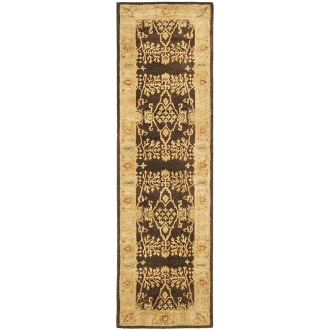 Safavieh Handmade Tree Brown/ Light Green Hand-spun Wool Rug (2'3 x 10')