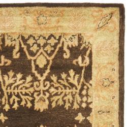 Safavieh Handmade Tree Brown/ Light Green Hand-spun Wool Rug (2'3 x 10') - Thumbnail 1
