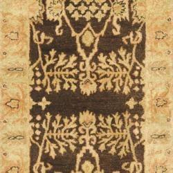 Safavieh Handmade Tree Brown/ Light Green Hand-spun Wool Rug (2'3 x 10') - Thumbnail 2