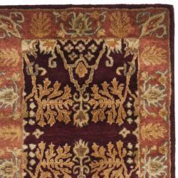 Safavieh Handmade Tree Dark Red/ Rust Hand-spun Wool Rug (2'3 x 10') - Thumbnail 1