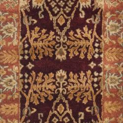 Safavieh Handmade Tree Dark Red/ Rust Hand-spun Wool Rug (2'3 x 10') - Thumbnail 2