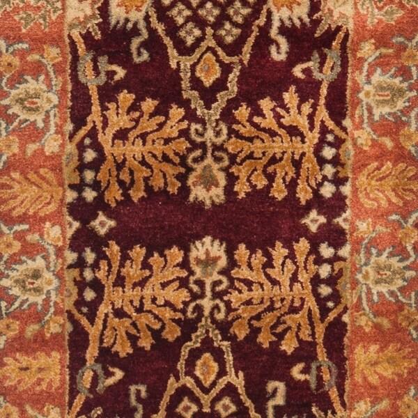 """Safavieh Handmade Tree Dark Red/ Rust Hand-spun Wool Rug - 2'3"""" x 10'"""