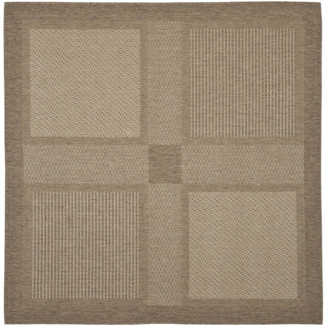 Safavieh Lakeview Brown Natural Indoor Outdoor Rug 6 7