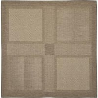 "Safavieh Lakeview Brown/ Natural Indoor/ Outdoor Rug - 6'7"" x 6'7"" square"