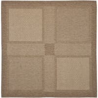 """Safavieh Lakeview Brown/ Natural Indoor/ Outdoor Rug - 6'-7"""" x 6'-7"""" square"""