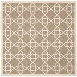 Safavieh Courtyard Geometric Trellis Brown/ Beige Indoor/ Outdoor Rug (6'7 Square)