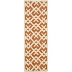 Safavieh Poolside Terracotta/Bone Indoor/Outdoor Area Rug (2'4 x 9'11)