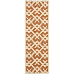 Safavieh Poolside Terracotta/Bone Indoor/Outdoor Polypropylene Rug (2'4 x 6'7)