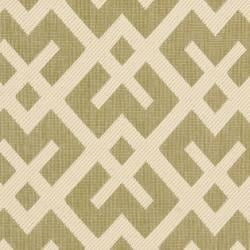 Safavieh Courtyard Contemporary Green/ Bone Indoor/ Outdoor Rug (2'4 x 6'7) - Thumbnail 2