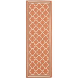 "Safavieh Poolside Terracotta/ Bone Indoor Outdoor Rug - 2'3"" x 6'7"""
