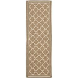 Safavieh Poolside Brown/ Bone Indoor Outdoor Rug (2'4 x 9'11)