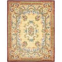Safavieh Handmade Aubusson Loubron Gold Wool Rug - 10' x 14'