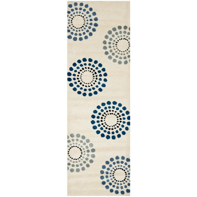 Safavieh Handmade Soho Celeste Ivory New Zealand Wool Rug (2'6 x 8')