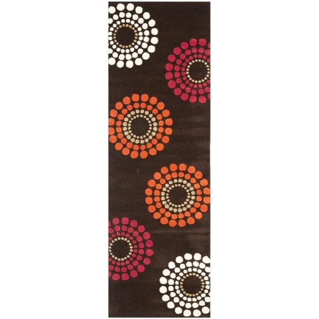 Safavieh Handmade Soho Celeste Brown New Zealand Wool Rug (2'6 x 8')