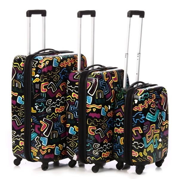 Nicole Miller 'Allegra' 3-piece Hardside Spinner Luggage Set
