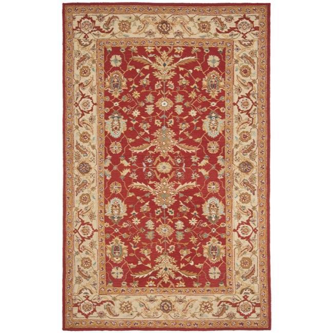 Safavieh Hand-hooked Tabriz Rust/ Ivory Wool Rug - 8'9 X 11'9
