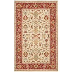 Safavieh Hand-hooked Tabriz Ivory/ Red Wool Rug (5'3 x 8'3)